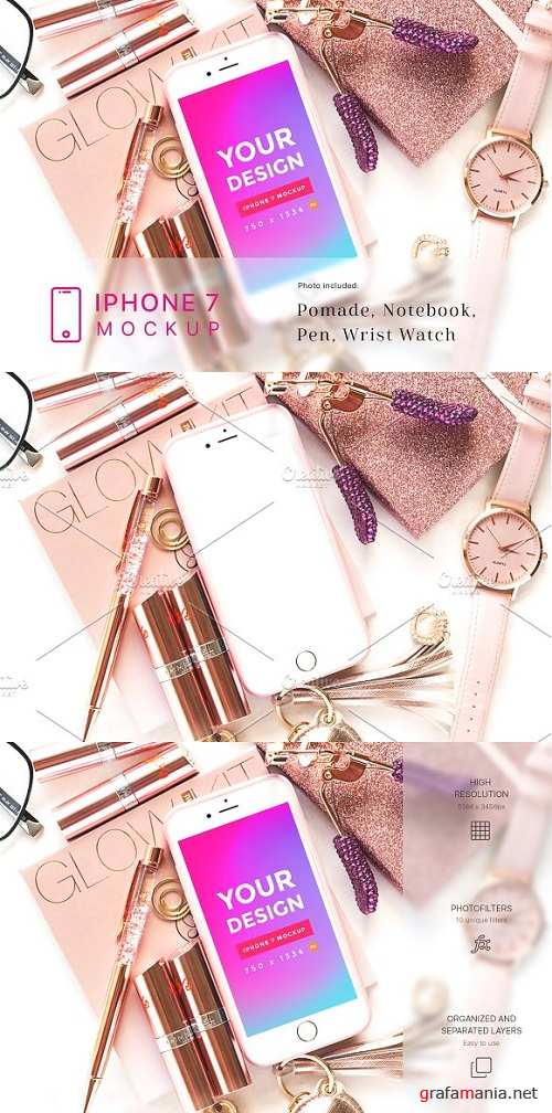 Beauty and Cosmetic iPhone 7 Mockup 1930992