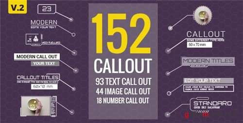 152 Call-Out Titles - After Effects Project (Videohive)