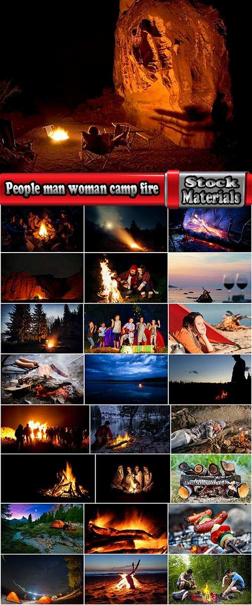 People man woman camp fire vacation vacations nature landscape 25 HQ Jpeg