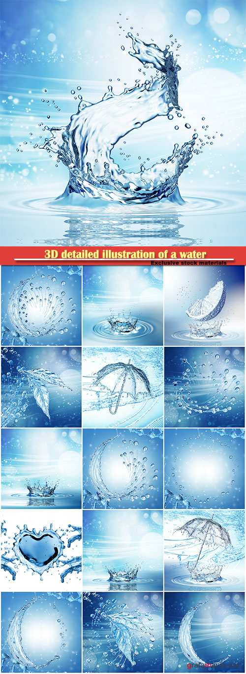 3D detailed illustration of a water