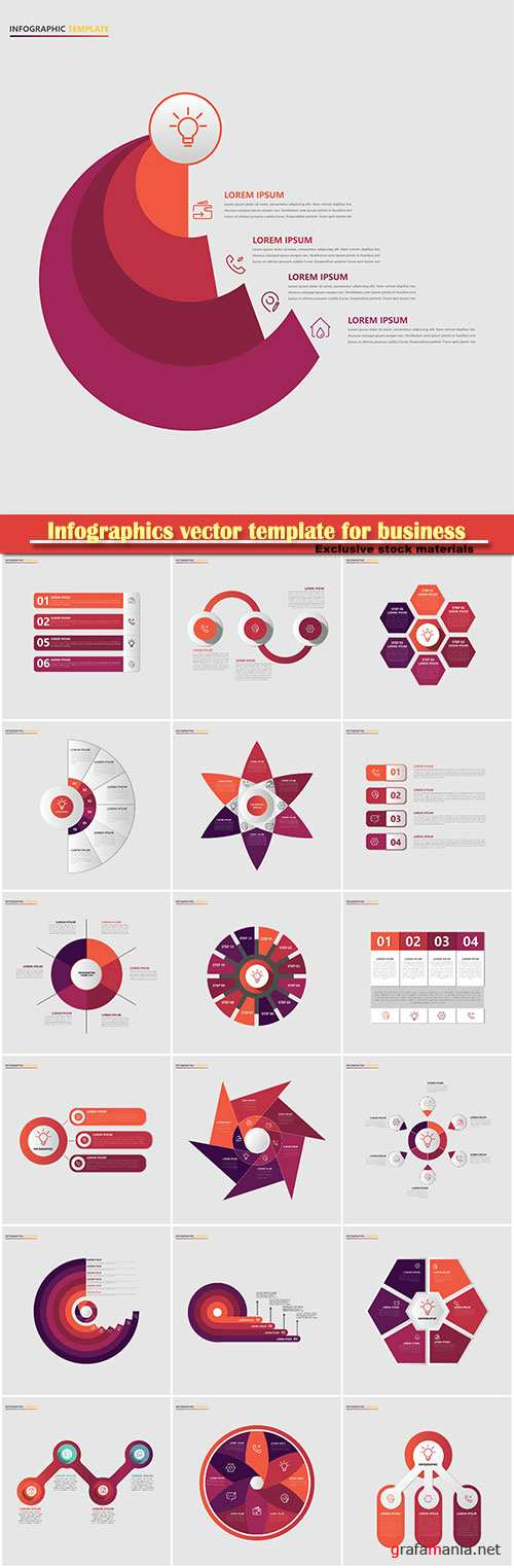 Infographics vector template for business presentations or information banner # 16