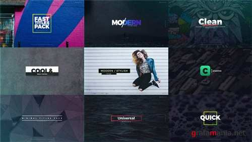 Fast Titles 20532602 - After Effects Project (Videohive)