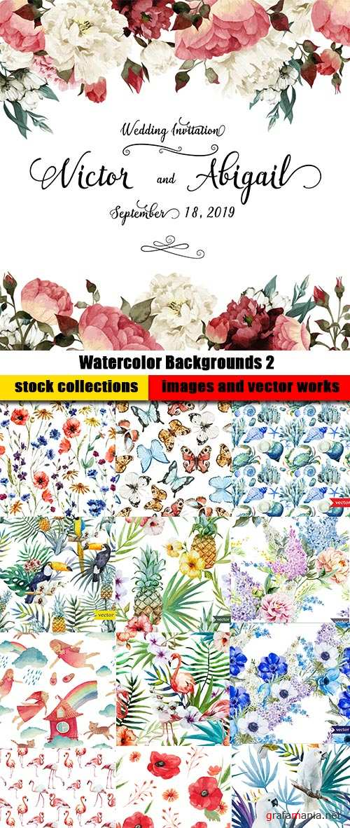 Watercolor Backgrounds 2