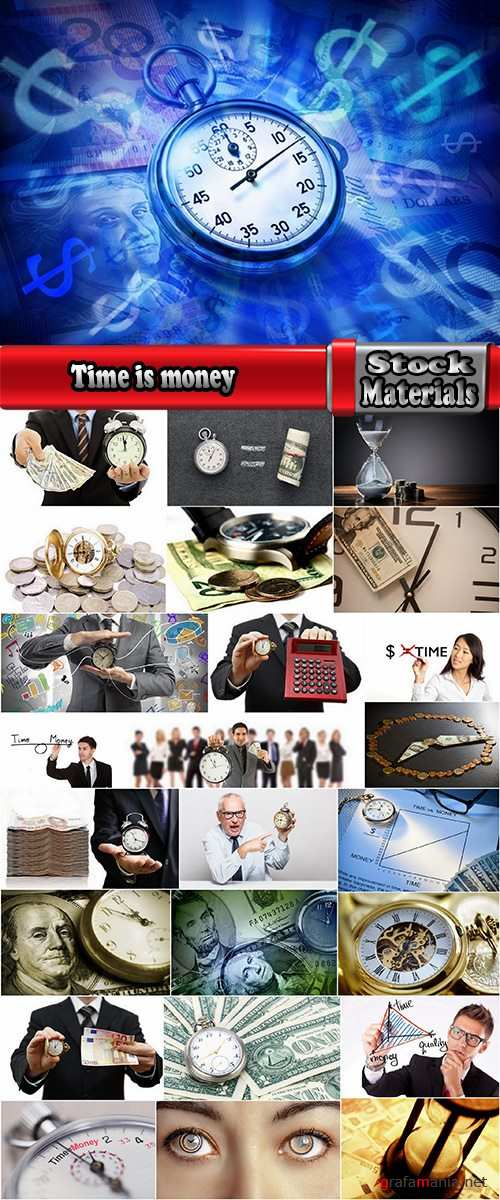 Time is money clock business profits 25 HQ Jpeg