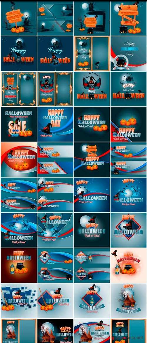Halloween collection 41 - 40 EPS