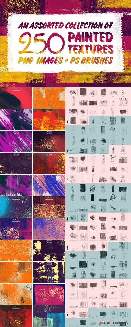 250+ High Quality Real Paint Textures and PS Brushes