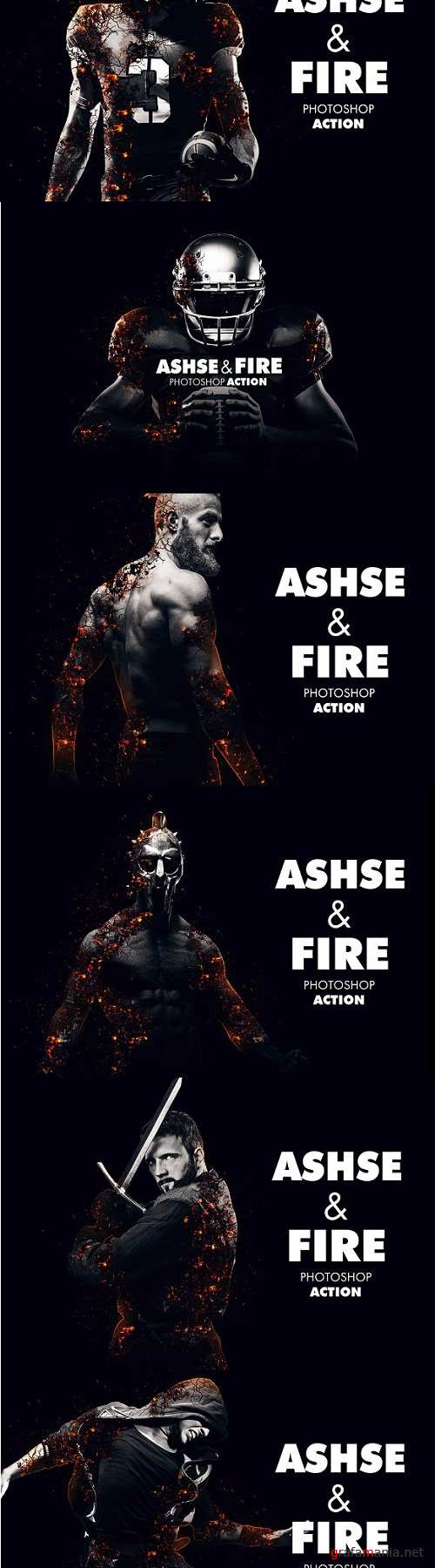 Ashes and Fire Photoshop Action - 1828259