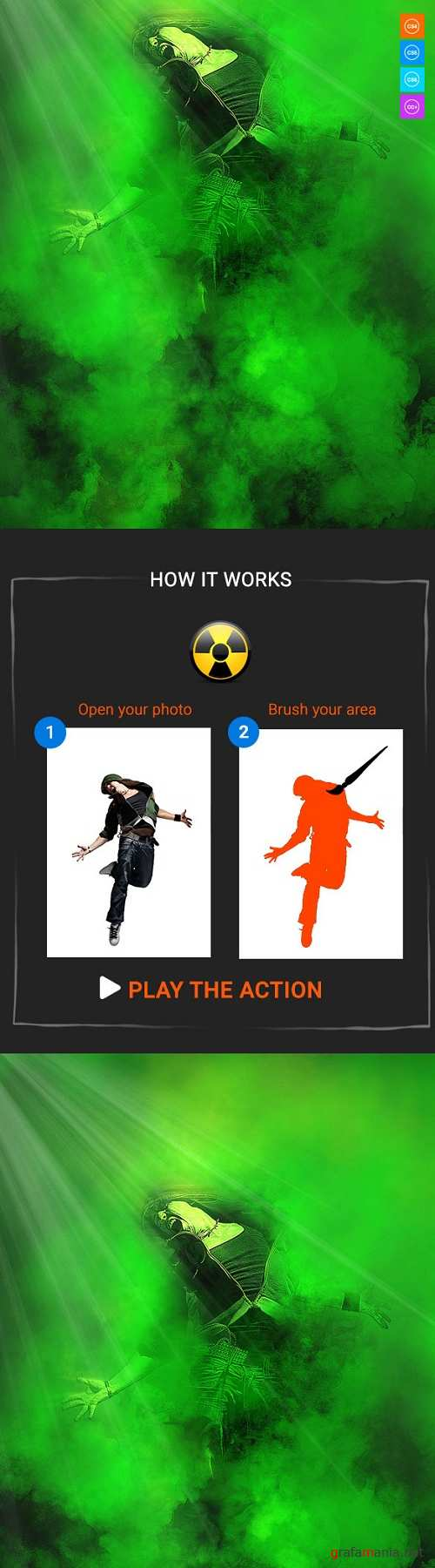 Radiation Photoshop Action - 20661302