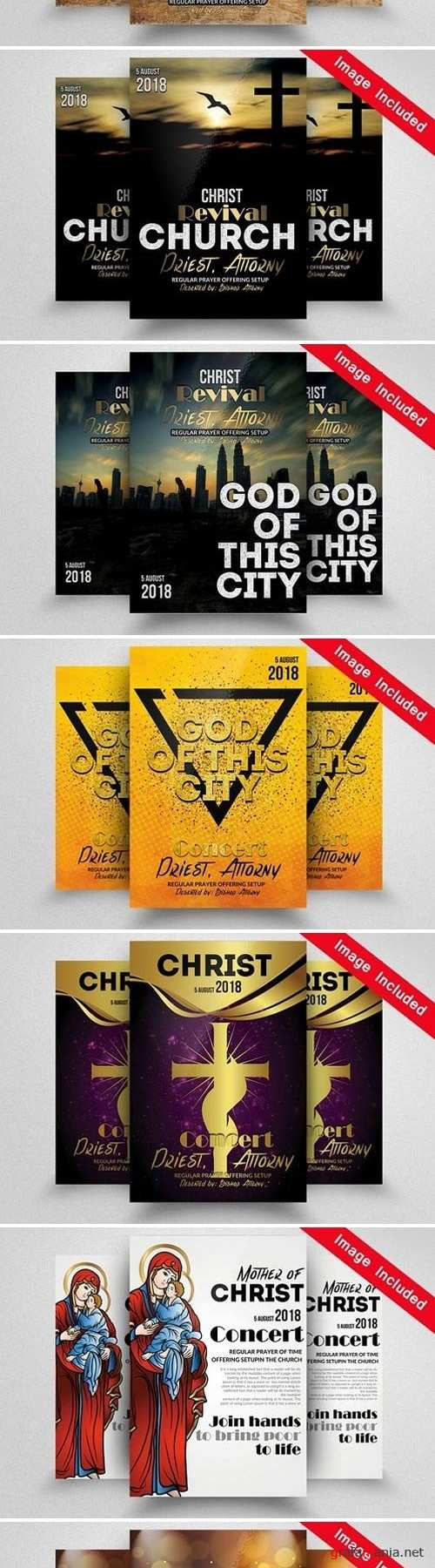 10 Church Flyer Bundle Vol.01 1721220