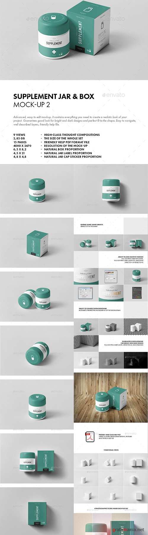 Supplement Jar & Box Mock-up 2 20742639