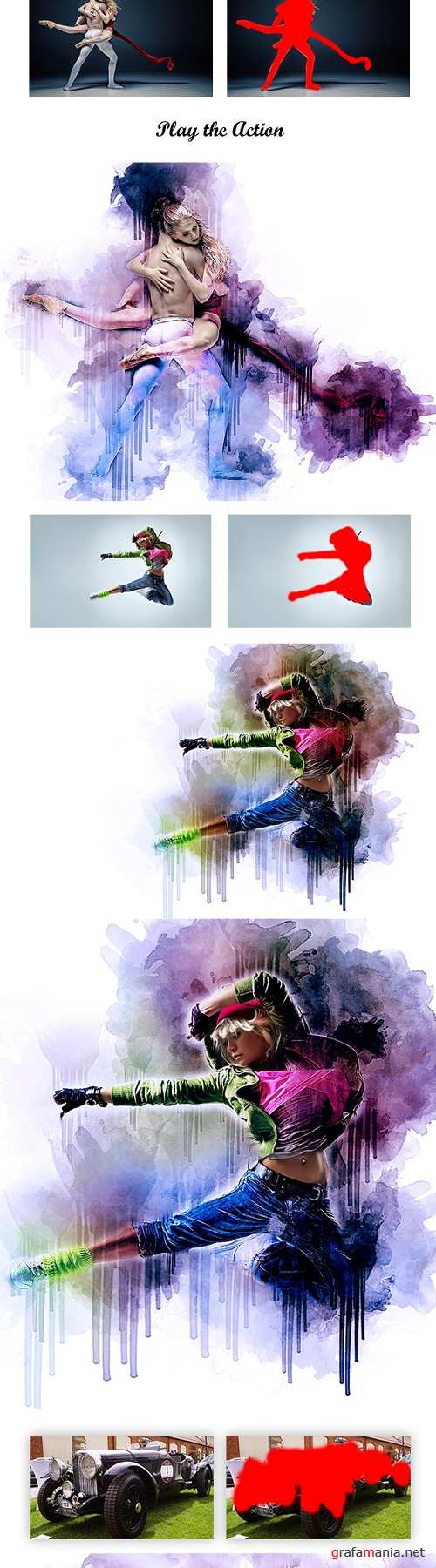 Watercolor Ink Photoshop Action 20687536