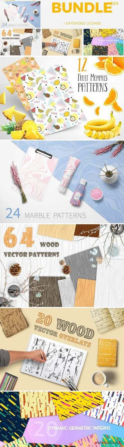Vector Patterns Great Bundle 5 in 1 1505521