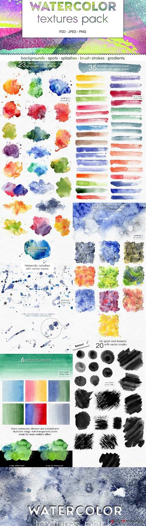 New WATERCOLOR Textures Pack - 1867093