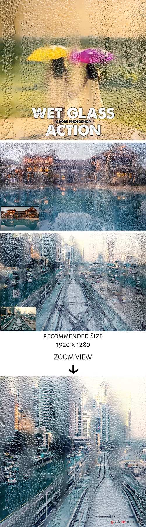 Wet Glass Photoshop Action 20752549