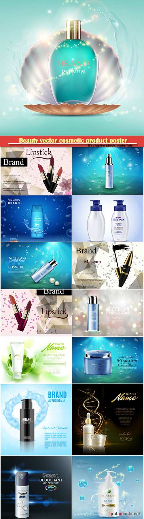 Beauty vector cosmetic product poster # 30