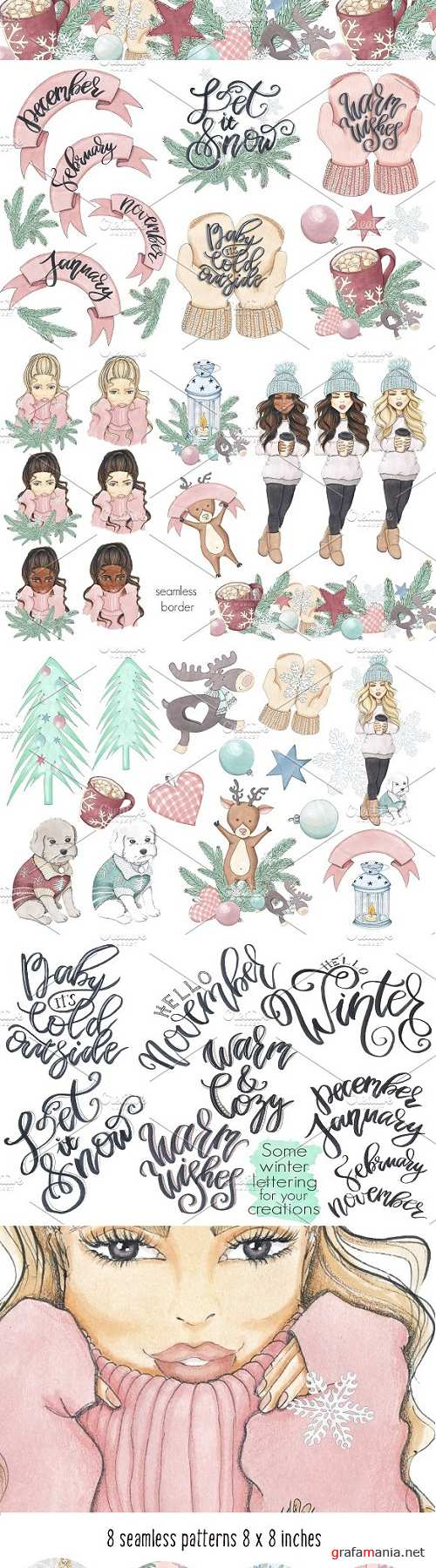 Warm & Cozy Hand-painted collection - 1838951