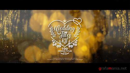 Wedding Titles Kit - 100 Titles - Project for After Effects (Videohive)