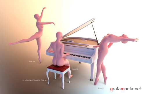 Dance Time - Aerial Studio and Poses for Genesis 8 Female