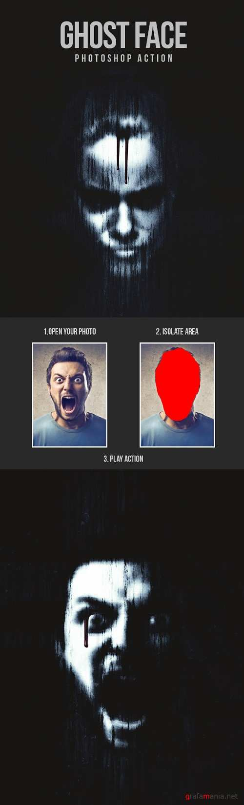Ghost Face - Photoshop Action 20862294