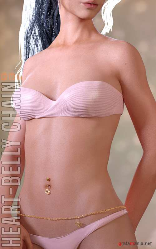 Heart-Belly Chain for G3F