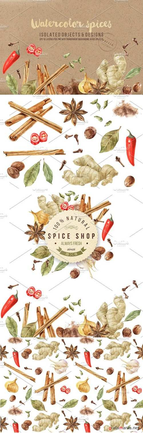 Watercolor Spices - 1987368