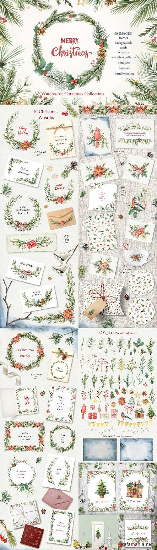 Watercolor Christmas Collection - 1988978