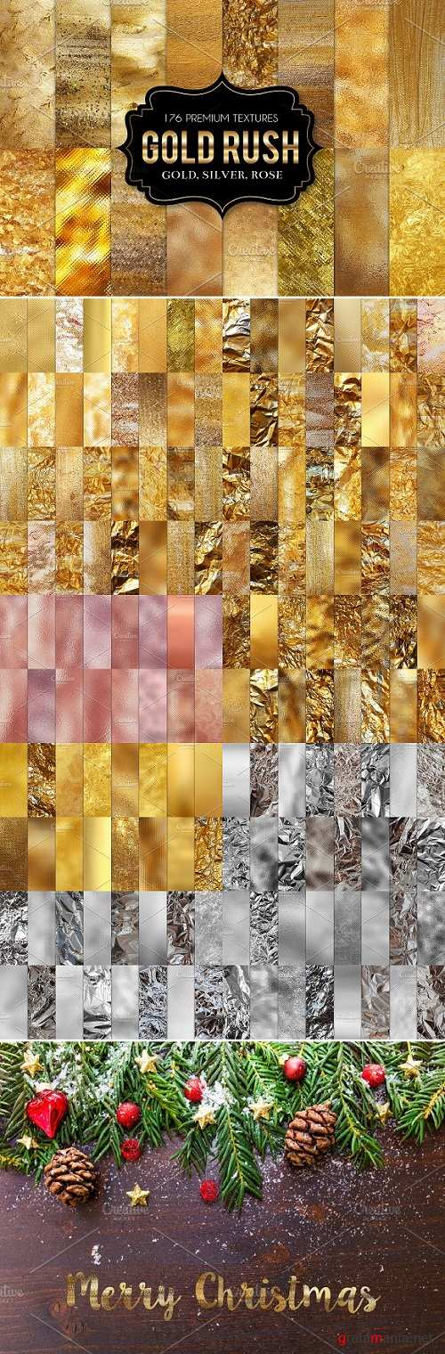 Gold Foil Textures, Gold Backgrounds - 1988723
