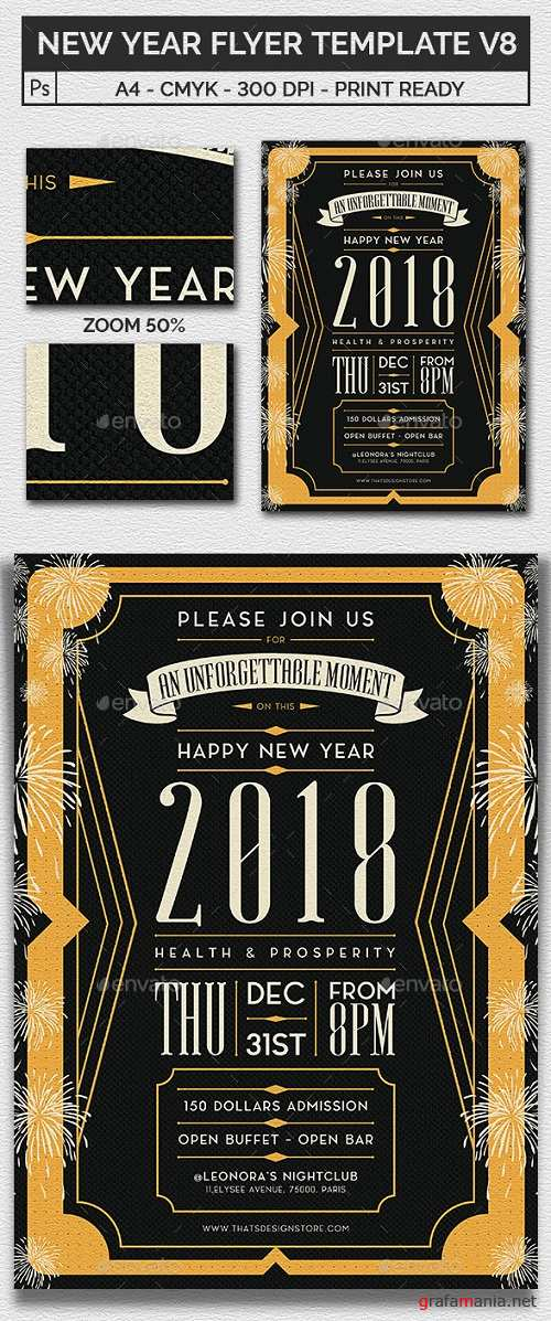 New Year Flyer Template V8 20921350