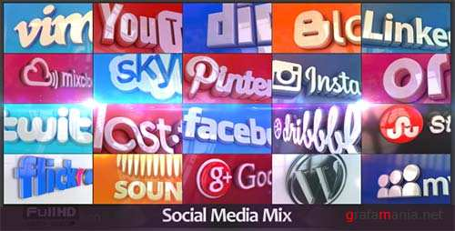 Social Media Mix - After Effects Project (Videohive)