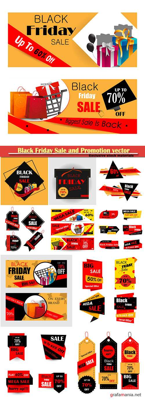 Black Friday Sale and Promotion vector banner
