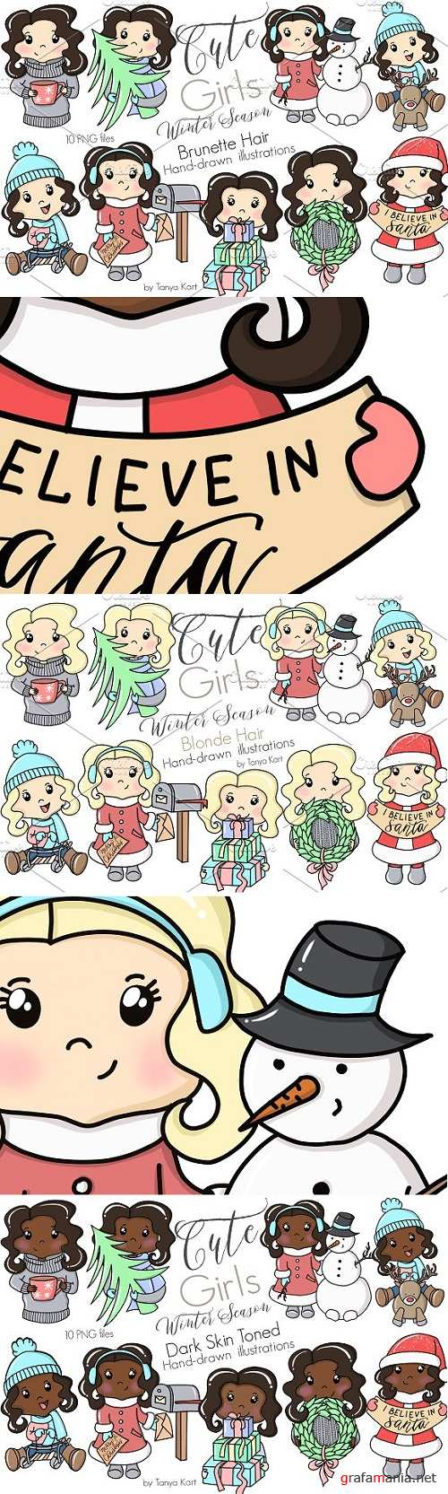 Cute Girls Winter Season Collection 2035128