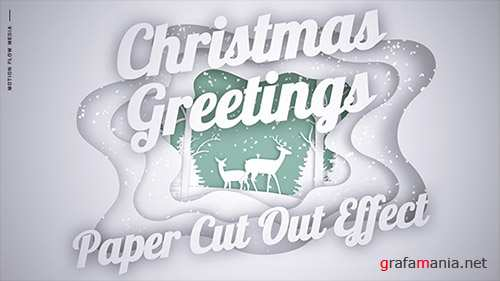 Christmas Greetings - Paper Cut Out - Project for After Effects (Videohive)