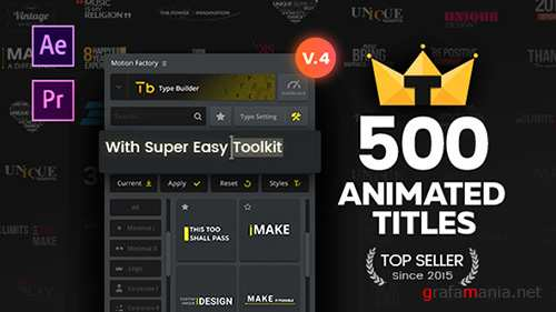 TypoKing | Title Animation - Kinetic Typography Text V4 - Project for After Effects (Videohive)