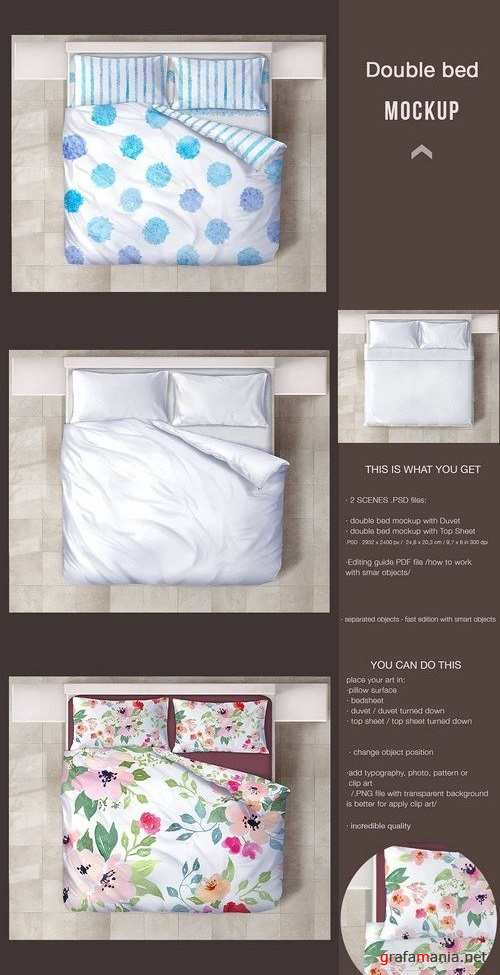 Double Bed Mockup 1457245