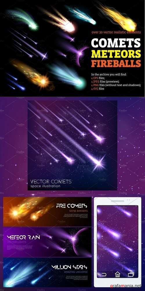 Comets Meteors and Fireballs - 1366102