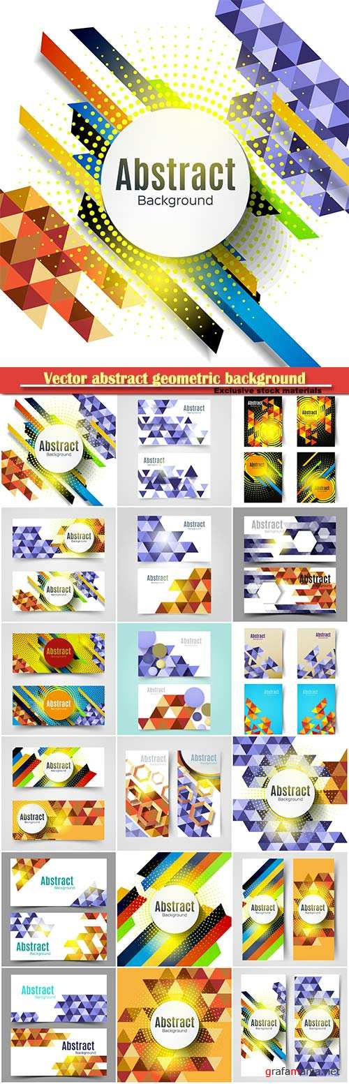 Vector abstract geometric background, technology polygonal design