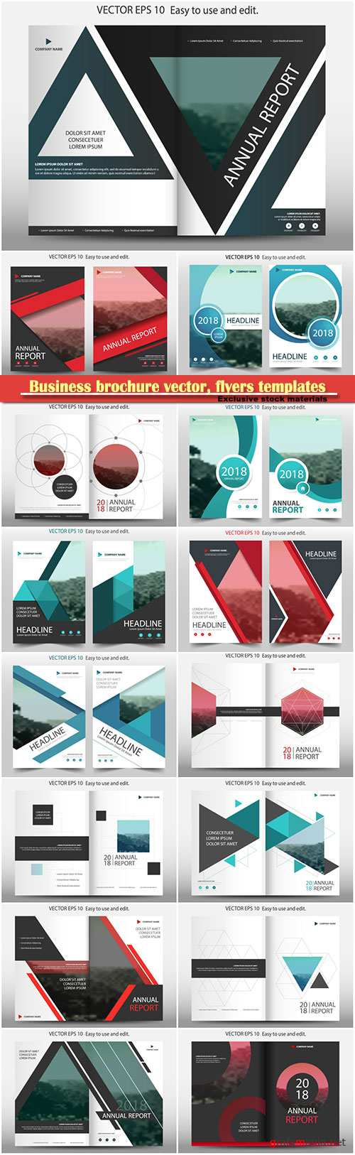 Business brochure vector, flyers templates # 80
