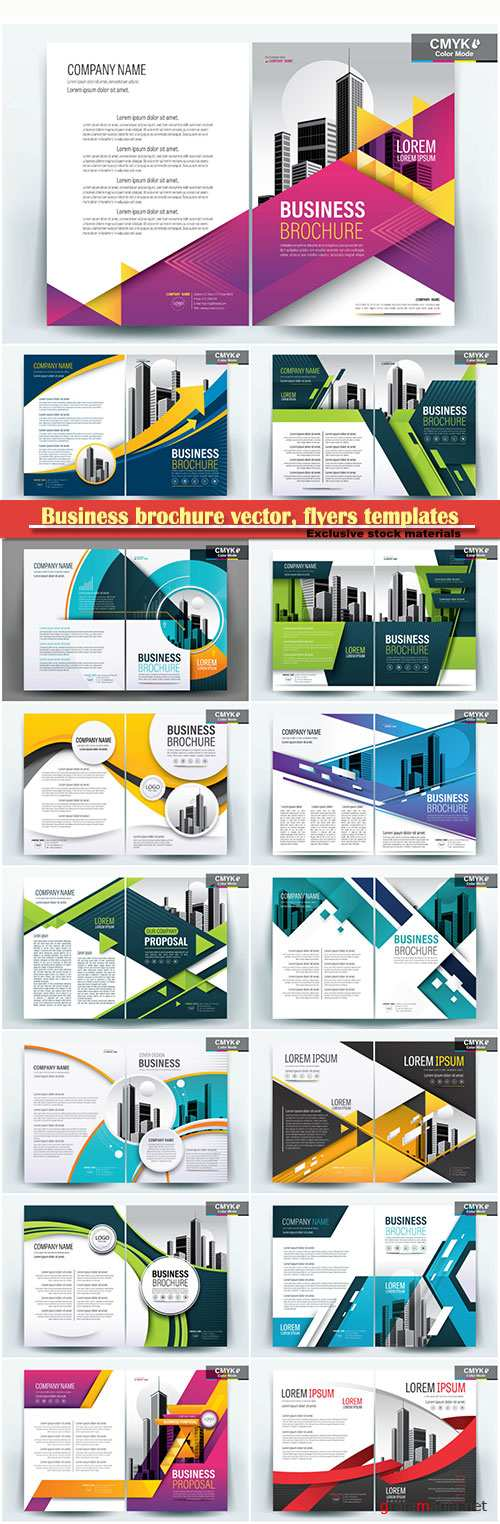 Business brochure vector, flyers templates # 79