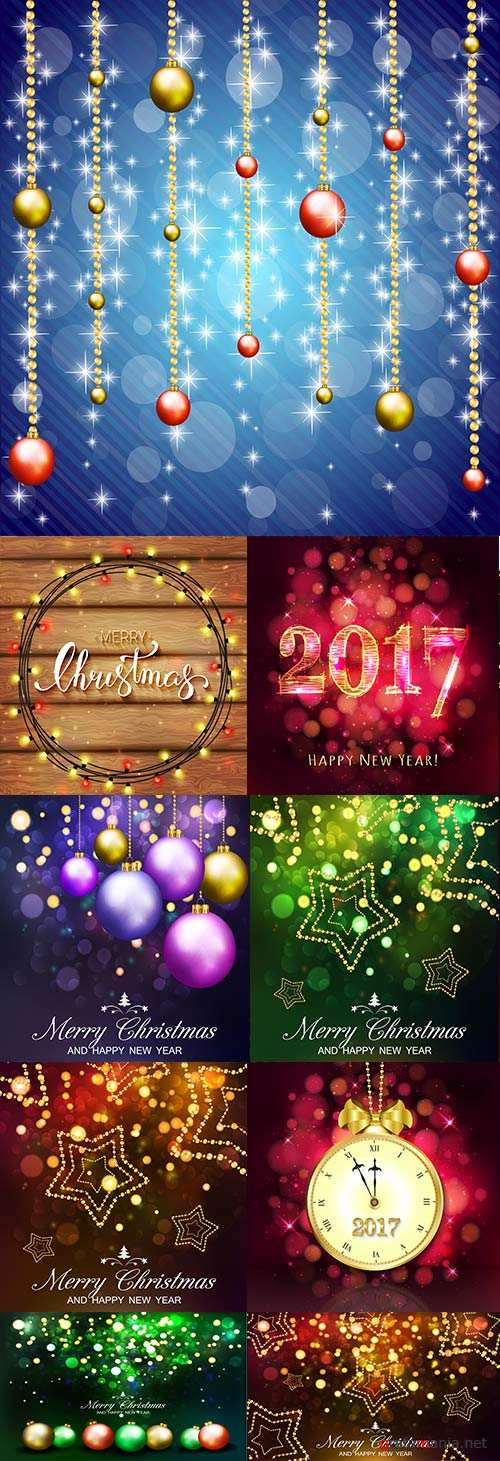 Merry Christmas and New Year collection design 13