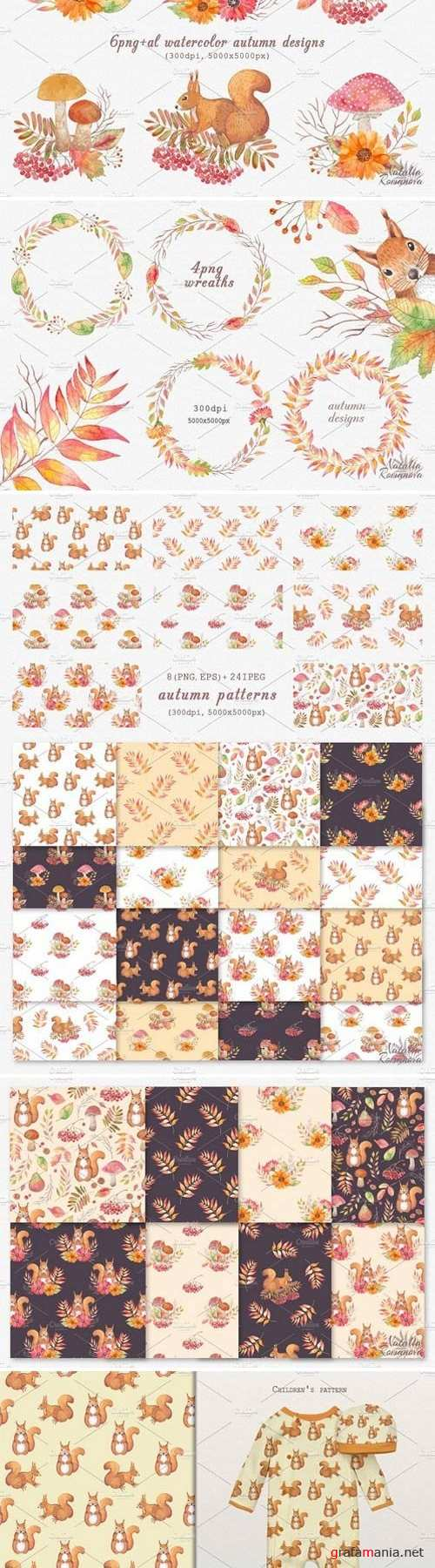 Autumn watercolor collection 1942788