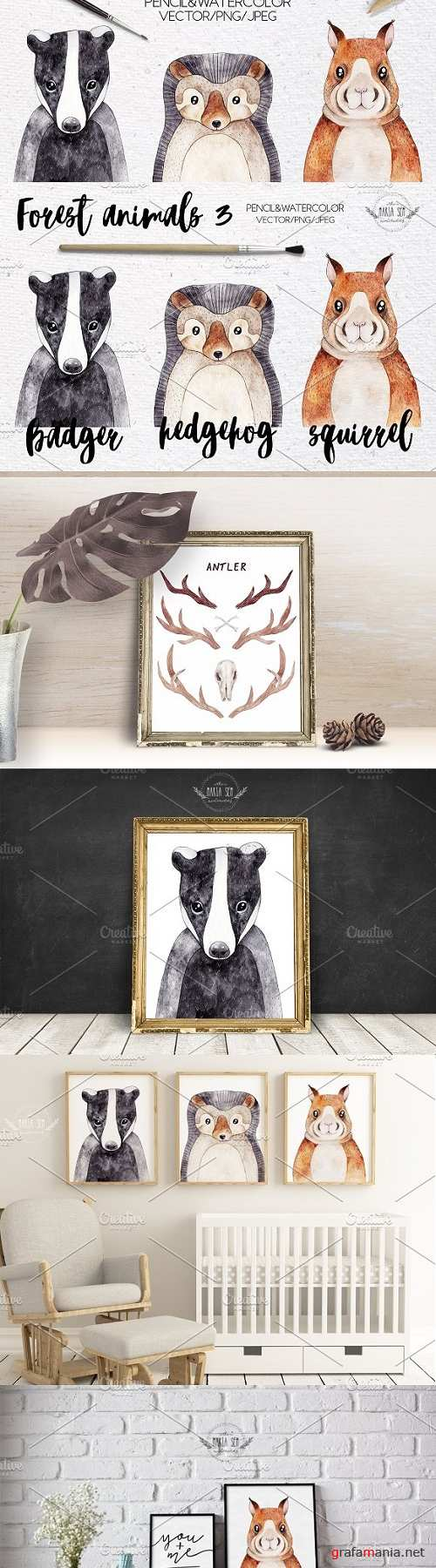 Forest animals VOL.3 Vector included - 1813264
