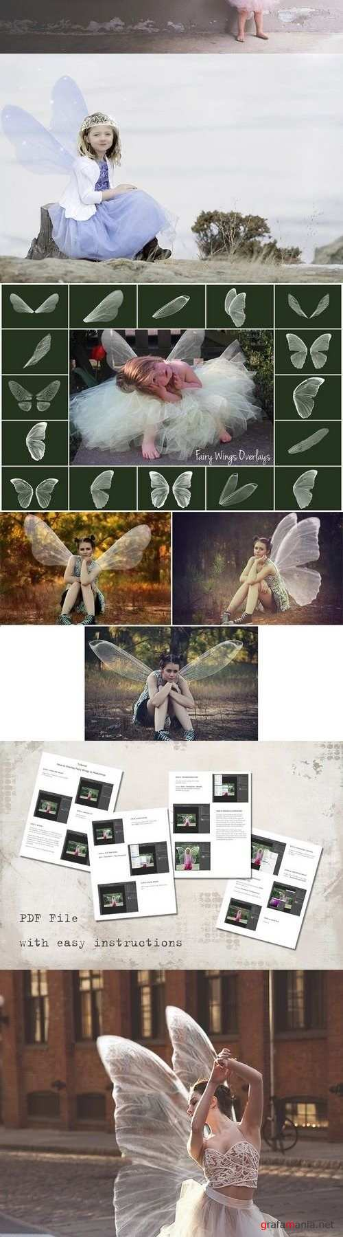 Wings fairy overlay. Magic clip art. 1366885