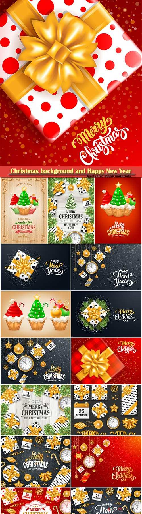 Christmas luxury background and Happy New Year vector illustration