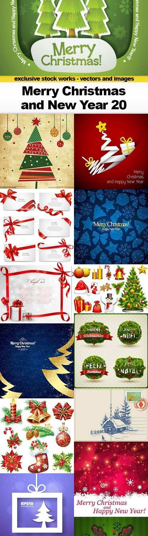 Merry Christmas & New Year 20, 15xEPS