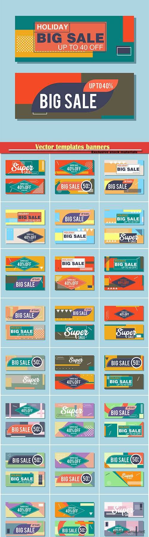 Vector templates banners, coupon codes and vouchers