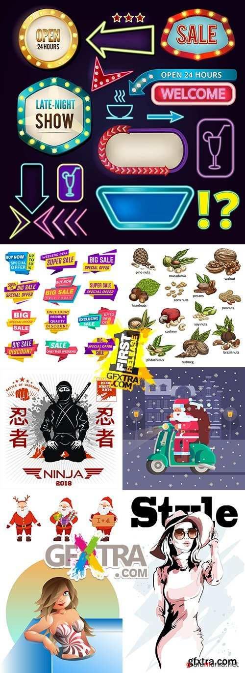 Modern big collection illustrations and elements design 18