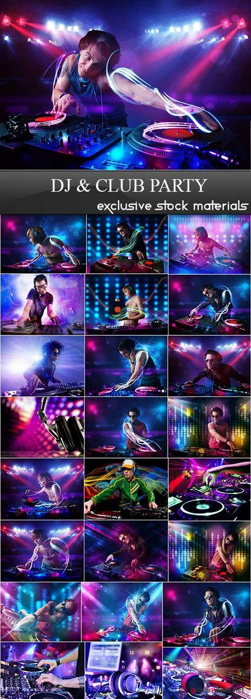 DJ and Club Party 25xJPG