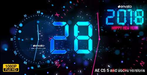 New Year Countdown 2018 - Project for After Effects (Videohive)