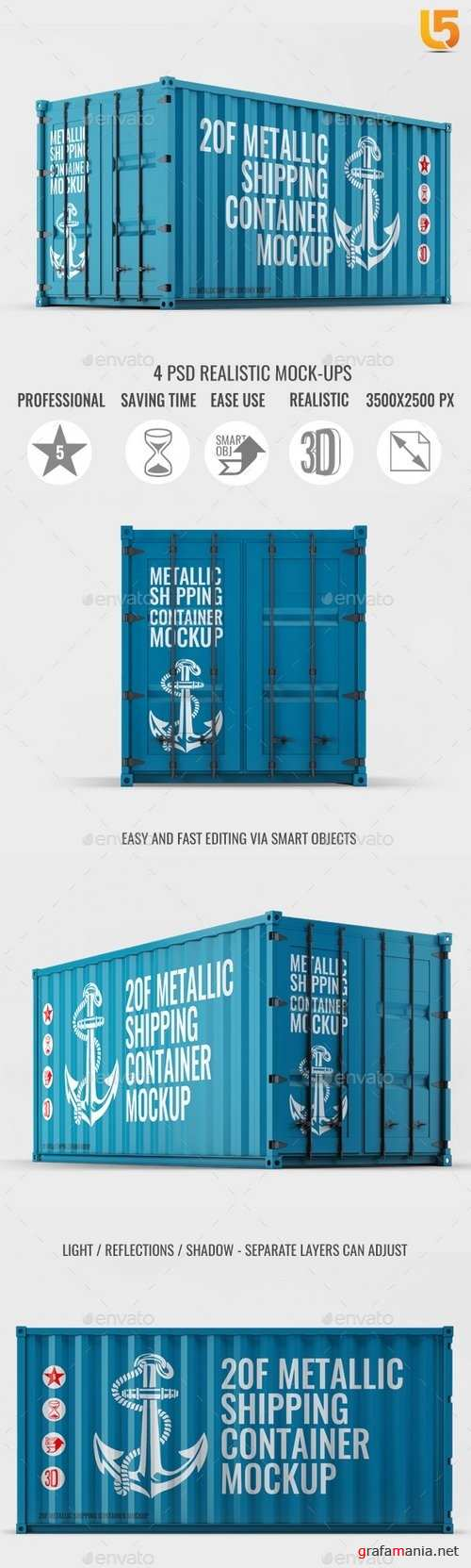 Shipping Container Mock-Up - 21074388