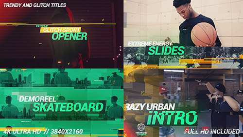 Glitch Dynamic Sport Opener - Project for After Effects (Videohive)